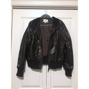 Xhilaration Faux Leather Bomber Jacket